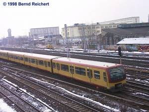 Zug in Richtung Lichtenberg