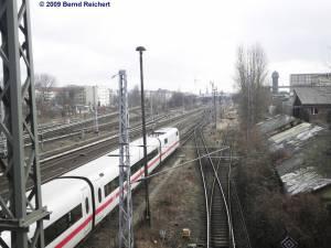 ICE auf dem Wege zum Bahnbetriebswerk Rummelsburg
