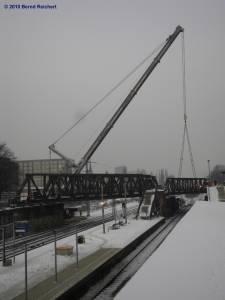 Abrissarbeiten an den Südringkurvenbrücken