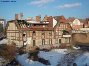 Das Bahnbeamtenhaus auf dem Gelände des Ostkreuz hat wahrlich schon bessere Zeiten gesehen.