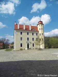 Penkun (Uecker-Randow), auf dem Schlosshof, aufgenommen am 16.04.2011