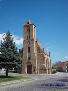 Kirche des Heilig-Geist-Hostpitals, Gartz (Oder), aufgenommen am 18.04.2011