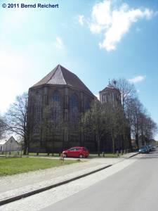 Halbruine der evangelischen Stephanskirche Gartz (Oder), aufgenommen am 18.04.2011