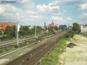 Blick von der neuen Kynastbrücke Richtung Osten.