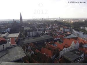 20120406-13 - Lübeck, Blick vom Turm der St.-Petri-Kirche in Richtung Süden, zum Dom