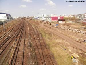 20120412-01 - Blick von der Warschauer Brücke in Richtung Ostbahnhof