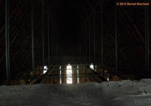 20120428-18 - Prenzlau, St.-Marien-Kirche, Dachstuhl aus Stahlfachwerk