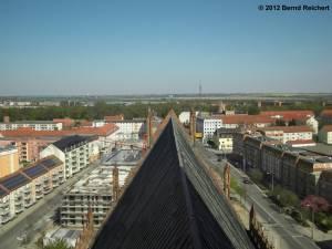 20120428-21 - Prenzlau, St.-Marien-Kirche, Blick vom Turmverbindungssteg in Richtung Osten