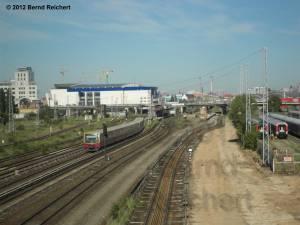 20120526-02 - Blick von der Modersohnbrücke aus in Richtung zur Warschauer Brücke