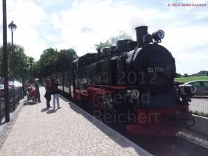 20120811-25 - Ostseebad Baabe, Einfahrt des Zuges von Ostseebad Göhren