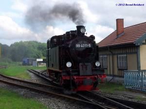 20120812-02 - Rangierfahrt zum Umsetzen der Zuglok, in Putbus