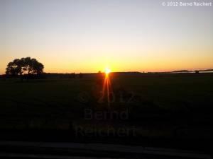 20120813-04 - Tankow (Ummanz): Sonnenuntergang, aufgenommen vom Kranichbeobachtungsstand aus
