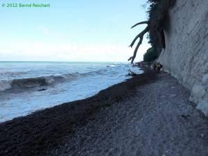 20120814-12 - Strandabschnitt mit ausgeprägter Brandungshohlkehle