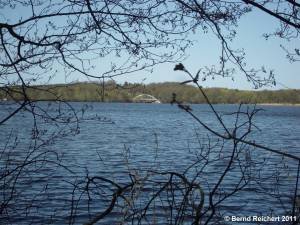 Blick vom Caputher Schlossgarten über den Templiner See, Aufnahme 10.04.2011